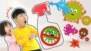 바이러스 악당을 없애자!! 손씻기 바른생활 놀이 Wash Your Hands Stroy And Play at Home for Kids - 마슈토이 Mashu ToysReview