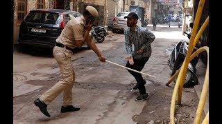 الهند تكافح كورونا بالعصا !