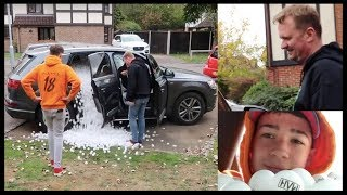 FILLING OUR DAD'S CAR WITH 1 MILLION PING PONG BALLS || Max & Harvey Mills