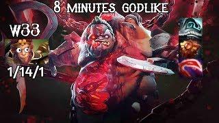 Monster Pudge VS w33 (MK) + Kuroky (Ursa) | 8 Minutes Godlike | PRO HIGHLIGHTS DOTA 2