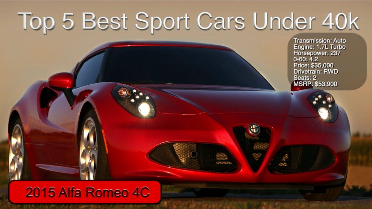 Top 5 Best Sport Cars Under 40k Youtube