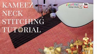 kameez neck stitching tutorial easy way [how to make]