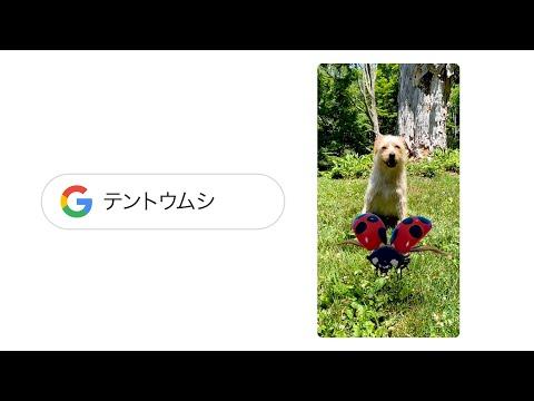 Google 検索 : Google で検索して、AR の昆虫と触れ合おう!