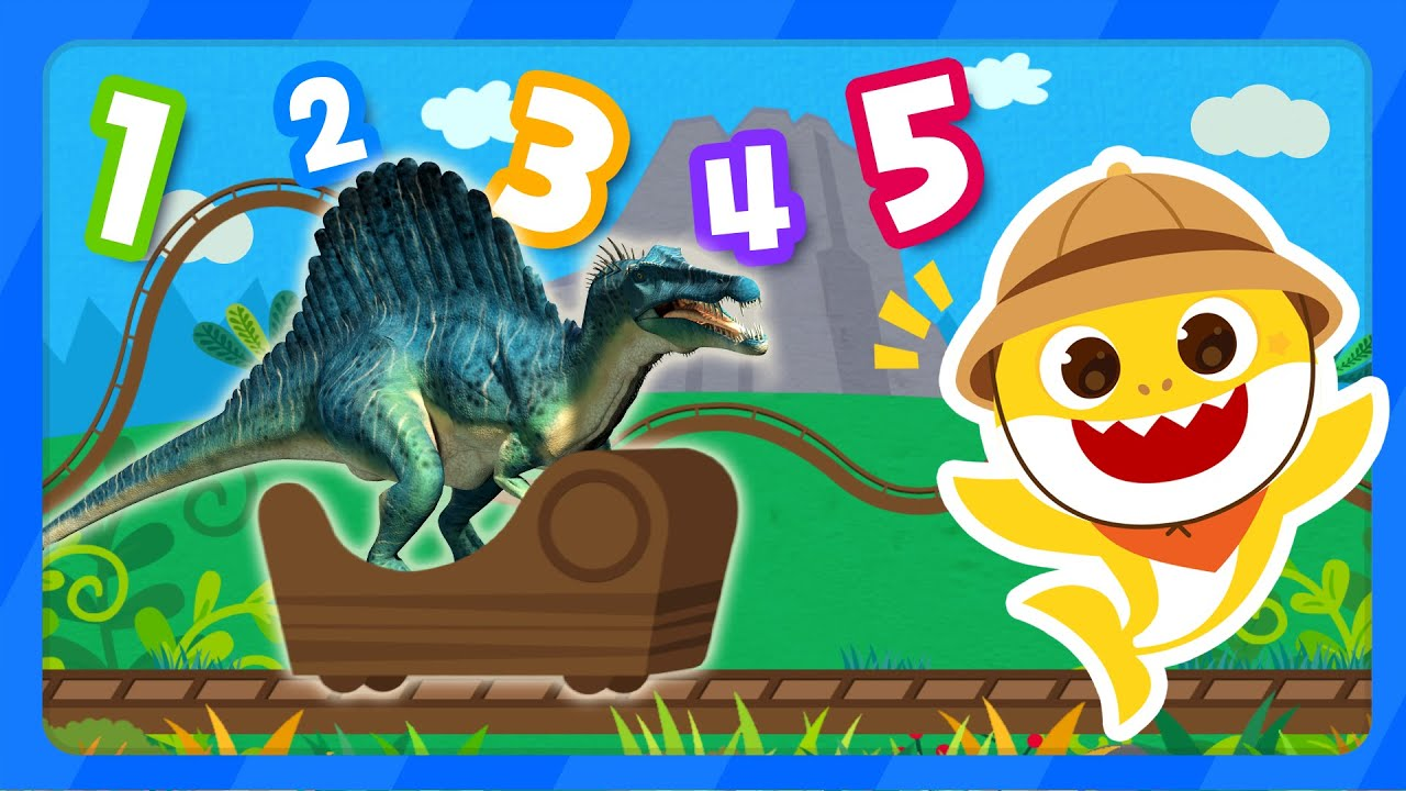 Count the Dinosaurs! | Iguanodon | Learn Numbers | Dinosaurs 1 to 5 with Baby Shark