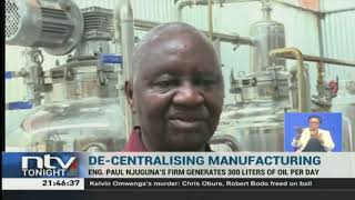 Engineer manufactures cooking oil from his backyard