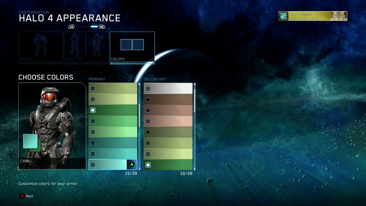 Halo 4 All Armor Colors