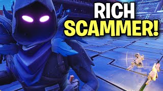 Aggressive little Rich 🤑 Scammer Tried to Scam me! (Scammer Get Scammed) Fortnite Save The World