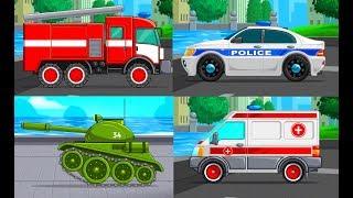 Мультики про Машинки Спецтехника Развивающие Игры Мультфильмы для Малышей Изучаем Транспорт