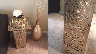Dollar Tree DIY - 💕 Gold Live,Laugh,Love End Table💕