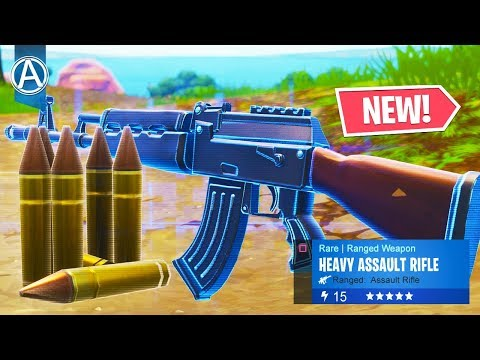 "NEW ""HEAVY ASSAULT RIFLE"" in Fortnite Battle Royale! (""HEAVY AR"" Gameplay) thumbnail"