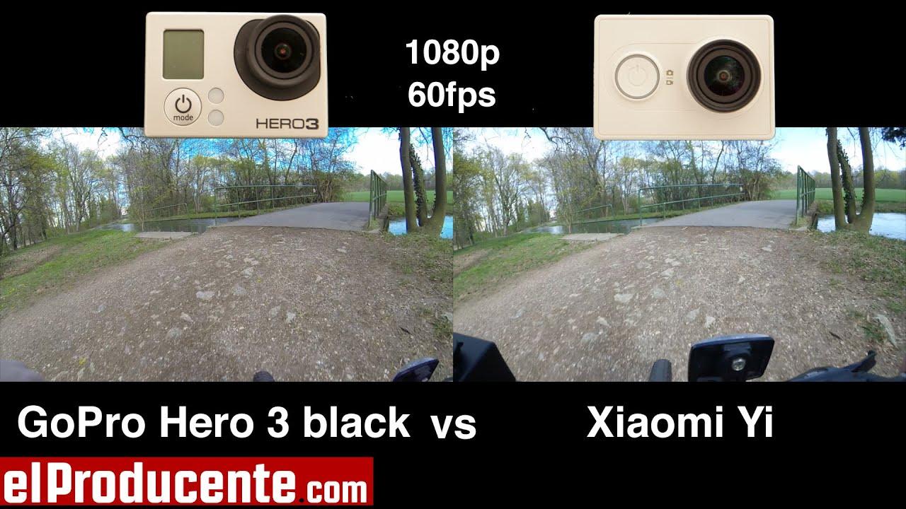 xiaomi yi vs gopro hero 3 black 1080p 60fps   youtube