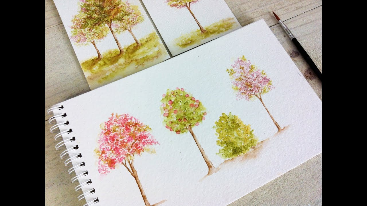 Wplus9 Tips & Tricks: Watercolor Trees - YouTube