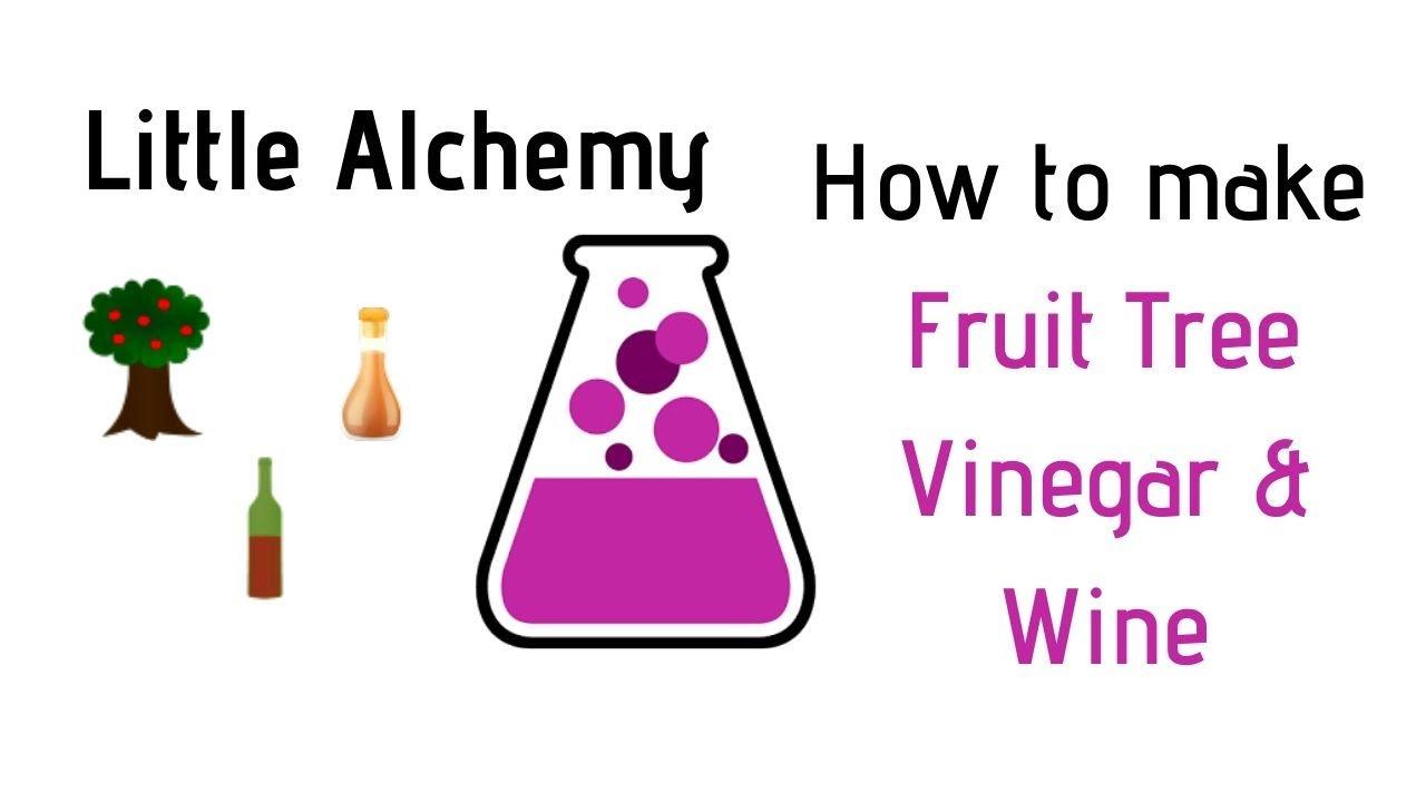 Little Alchemy How To Make Fruit Tree Vinegar Wine Cheats Hints Youtube