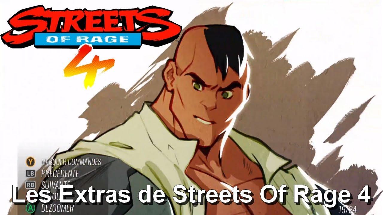 Les Extras de Streets Of Rage 4: (Héros, Ennemis, Environnement, Autre, ect ...)