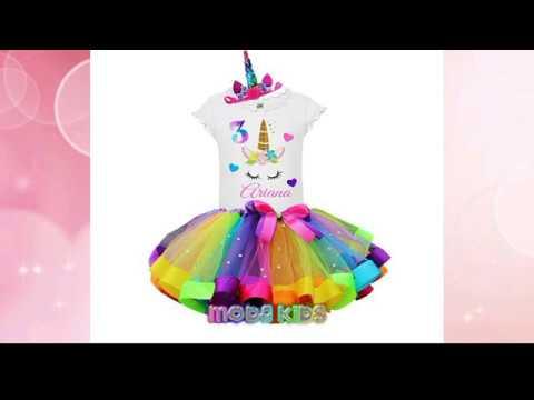 Preciosos Vestidos De Unicornio Con Tutu Para Niñas