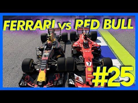 F1 2017 Career Mode : FERRARI vs RED BULL!! (Part 25)