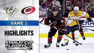 First Round, Gm1: Predators @ Hurricanes 5/17/21 | NHL Highlights