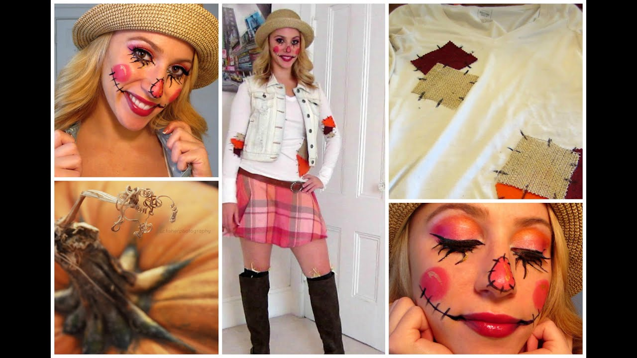 sc 1 st  YouTube & DIY Sweet Scarecrow Halloween Costume! - YouTube