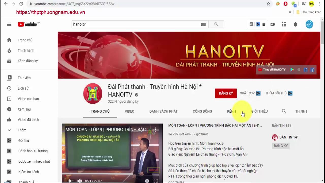 03 cách học trực tuyến trên truyền hình Hà Nội