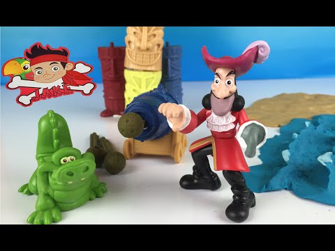 Play Doh fun with Jake and the Neverland pirates - Hook and the tiki target challenge