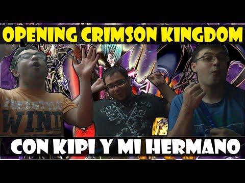 ABRIENDO PACKS CRIMSON KINGDOM (4500 GEMAS!) CON KIPI Y MI HERMANO - DUEL LINKS