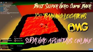 Best Training Locations - Super Hero Adventures Online | ROBLOX