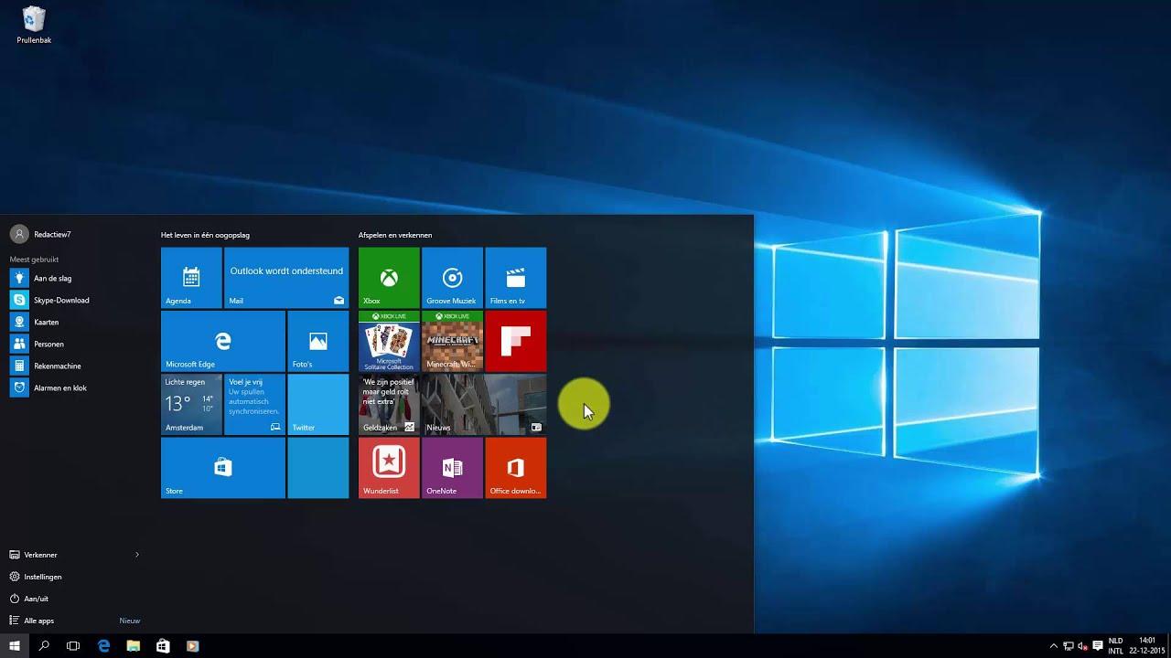 Windows 10 Trucjes Voor Het Startmenu Youtube