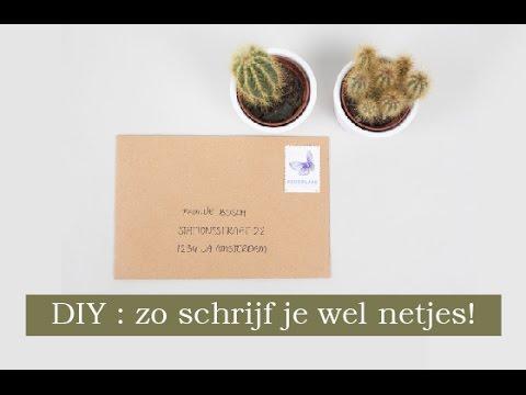 dé truc om netjes enveloppen te schrijven - youtube