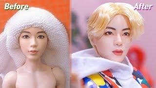 BTS x Mattel Dolls Repaint: Jin /방탄소년단 마텔 인형 진 리페인팅 Fashion Doll