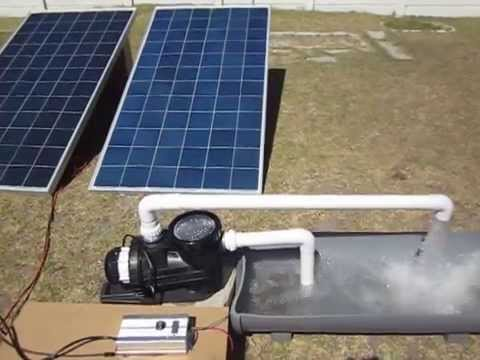 Swimming pool solar panels energy saving pump - YouTube