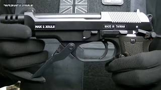 ASG M93R II GAS BLOWBACK PISTOL aka KWA M93R Unboxing Review Slow motion shooting test