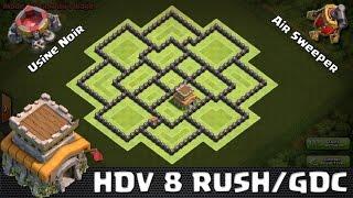 Clash Of Clans, Village HDV 8 Anti 3 Étoiles. Rush/GDC speedbuilding.