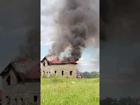 Пожар в кингисеппском мкр.Южный. Июнь 2019