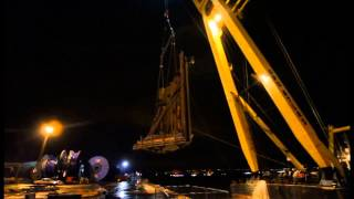 Queensferry Crossing - Centre Tower - Cofferdam Sections Lifted From Dockside - 2013