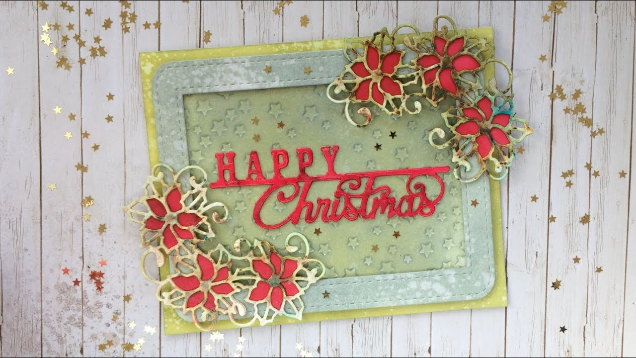 Creative Expressions Festive Collection Poinsettia Cluster CED3105