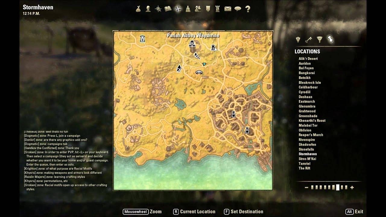 ESO: Stormhaven CE Treasure Map Location - YouTube