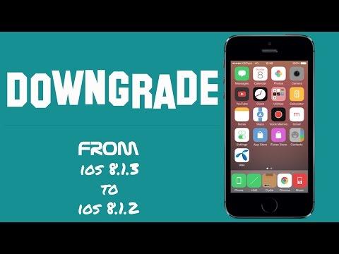 วิธีการ Downgrade จาก iOS 8.1.3 เป็น iOS 8.1.2