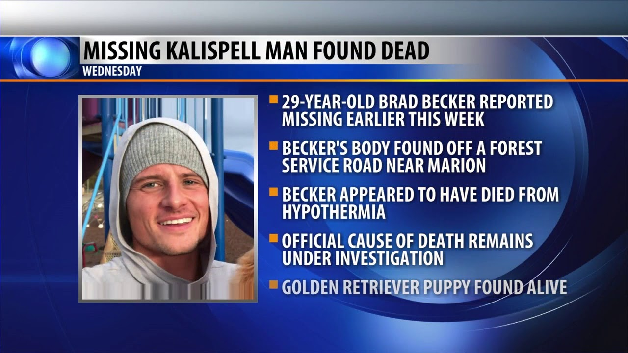 Missing Kalispell man found dead near Marion
