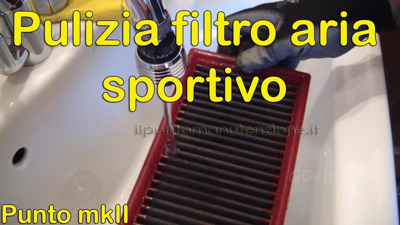 Pulizia Filtro Aria Sportivo A Pannello Di Cotone Youtube