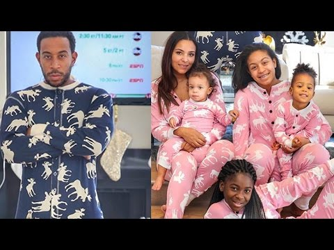 Ludacris and Eudoxie Celebrate Christmas with Their Daughters in Los Angeles