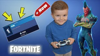 *5 YEAR OLD KID* Spending 1000+ V-Bucks Today! NEW Fortnite Dance Emote + Epic GamePlay!