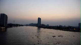 Chao Phraya River in Bangkok Thailand - Time Lapse Photography