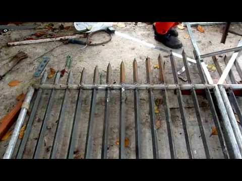 Steel Gate Fabrication 1 08 13 B Youtube