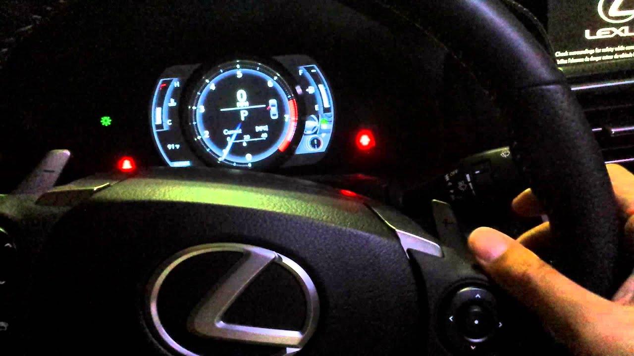 Lexus Speedometer Display Options Youtube