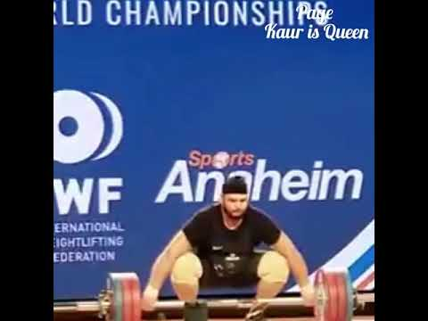 Gurdeep singh break the national record in world weightlifting championship USA.