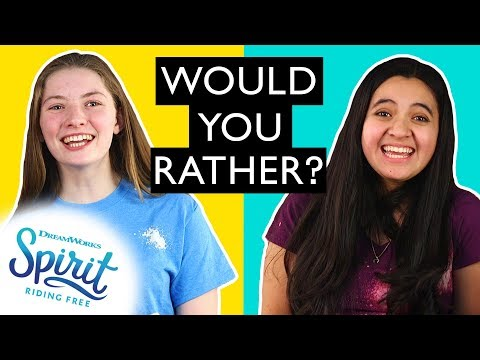 Would You Rather: Horse Edition!   THAT'S THE SPIRIT