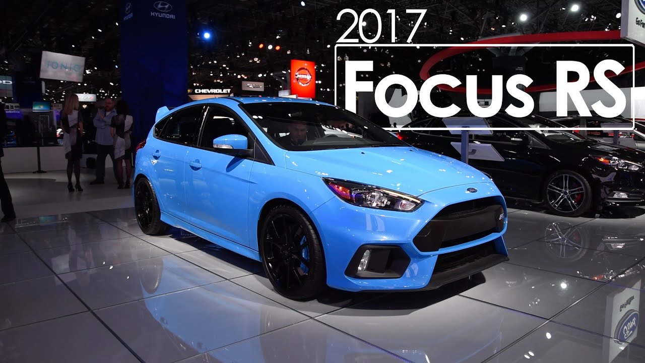 2017 ford focus rs awd 2016 new york international auto show youtube