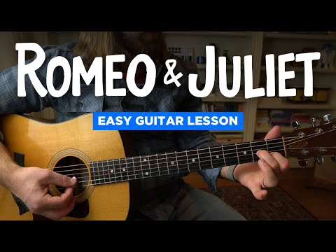 Romeo & Juliet • Easy Guitar Lesson (no Capo, Standard Tuning) (Dire Straits)