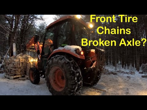 Do Front Tire Chains Damage 4wd Tractors?