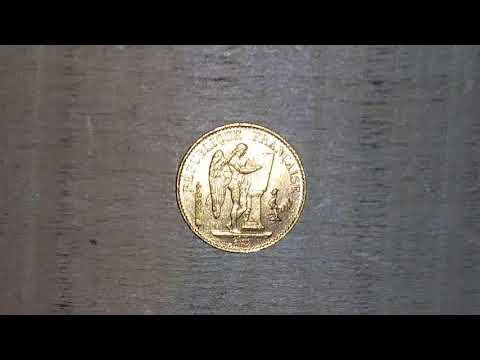 Gold 20 Franc Lucky Angel BU (1887)